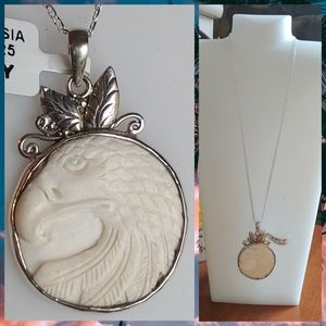 Jewelry - Carved Bone Eagle Necklace